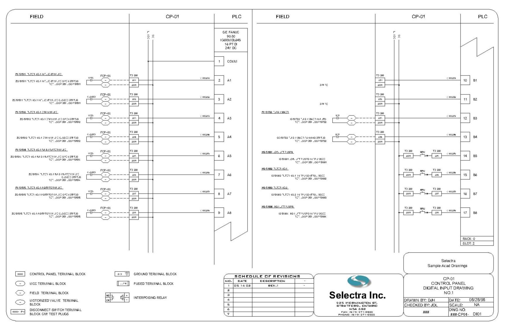 ge fanuc di01 Model 1 phase starter panel plc wiring schematic at eliteediting.co